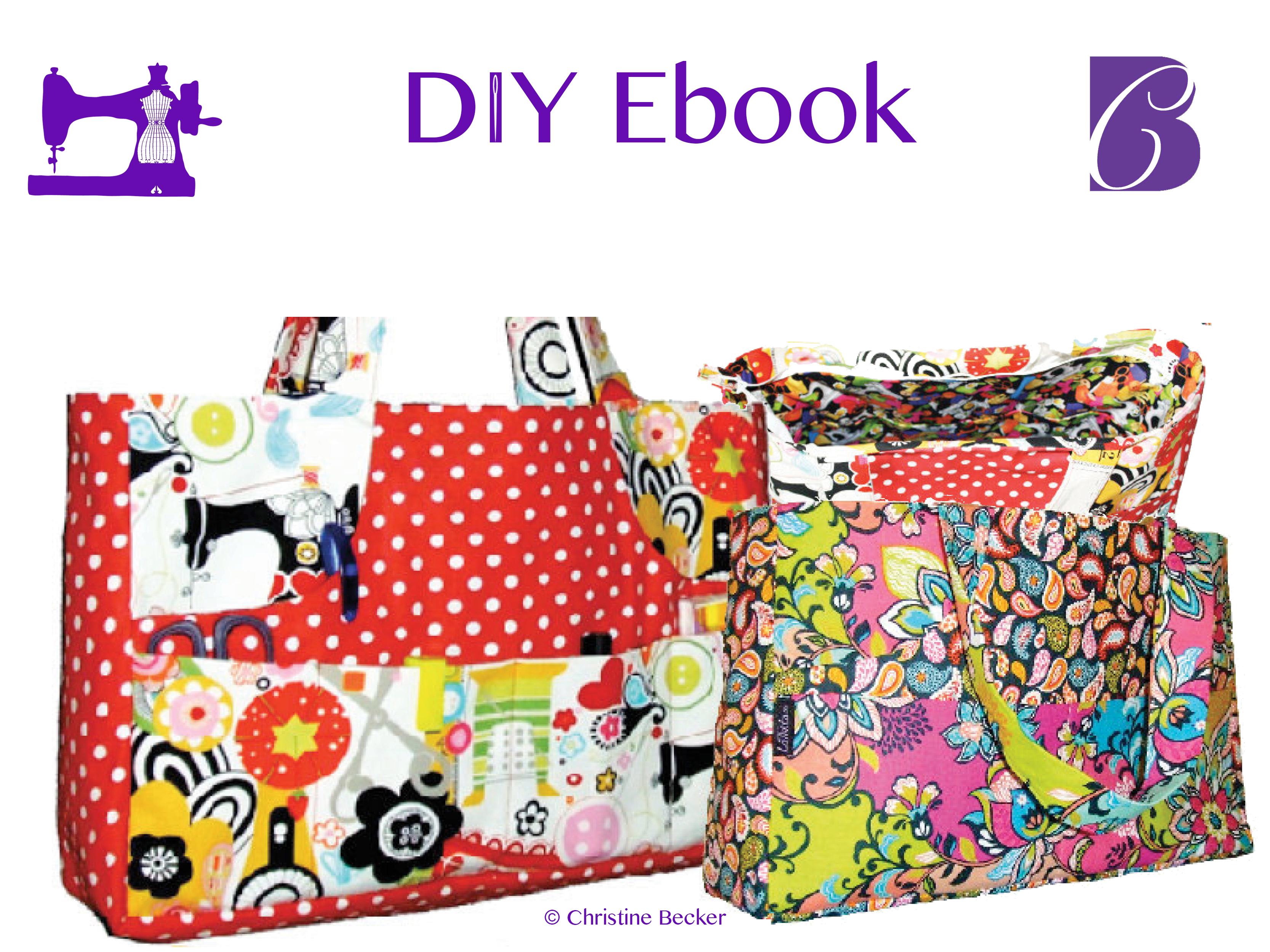 DIY Ebook veske Jenny med glidelås